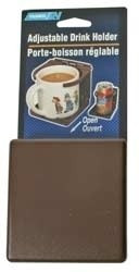 Camco Drink Holder, Brown, Adjustable