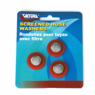 Valterra Hose Washers with Screen, Red, 3 per Card