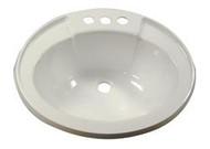 Plastic Lavatory Bowl, White