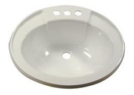 Plastic Lavatory Bowl, Ivory Sink