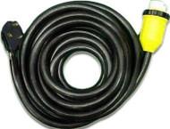 Marine Power Cord w/ Marinco Hubbell Locking Connector, 40', 30 Amp