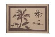 Reversible Outdoor Patio Mat/Rug/Carpet, Beach Brown Beige