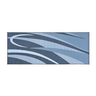 Reversible Outdoor Patio Mat/Rug/Carpet, Black Silver 8 x 20