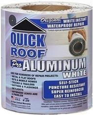 "Quick Roof Waterproof Roof Repair, White, 6"" x 25'"