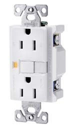 Ground Fault Circuit Interrupter Receptacle, White