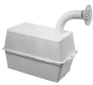 Vented Battery Box, Small, Colonial White