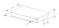 """ABS Holding Tank Blank End Drain, 20"""" x 64"""", 18 Gallons"""