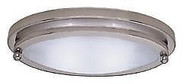 "Gustafson 10"" Low Profile Oval Light, Satin Nickel"