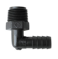 "Valterra Elbow Male Adapter, 90° 3/8"" MPT x 3/8"" Barb"