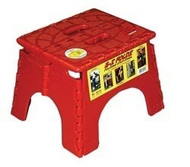 "EZ-Foldz Folding Step Stepping Stool, 9"", Red"