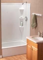"""Full Bath Tub, 40"""" x 24"""", (LH), Parchment"""
