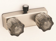 "Empire Brass 4"" Personal Shower Valve Smoke w/ Crystal Handles, Nickel"