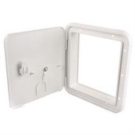 30/50 Amp Thumb Lock Electric Cable Hatch, Colonial White
