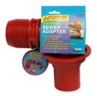 Valterra EZ Coupler Universal Sewer Adapter, Red, Carded