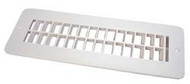 Plastic Floor Registers, Polar White
