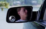 "3"" Round Stick-On Blind Spot Mirror"
