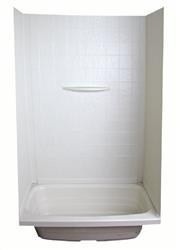 "Bathtub/Shower Surround, Parchment, 40"" x 56"""