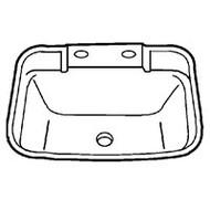 Rectangular Lavatory Sink, White 17x20