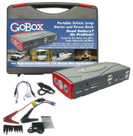 GoBox Portable Vehicle Jump Starter & Power Bank Jumper Cables w/ Battery