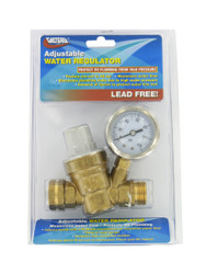 Valterra Water Regulator, Adjustable, Brass, Lead-Free, Carded