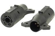 Adapter 6 Way Round to 7 Way Blade Brake Pin in Center