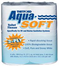 Thetford Aqua Soft Toilet Tissue - 4pk