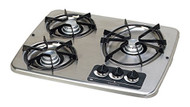 Atwood Wedgewood Vision Cooktop - Drop-In, 3 Burner, Stainless Top