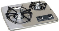 Atwood Wedgewood Vision Drop-In, 2 Burner Stainless Cooktop