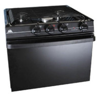 "Atwood Wedgewood Range 17"", 3-Burner Range, Black Top, Black Painted Door, Piezo Ignition"