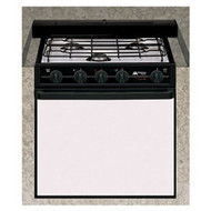 "Atwood 21"" Wedgewood 3-Burner Range, Black Top, Black Door RV 2135 BBU UPS"
