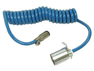 Blue Ox 7 way RV Blade to 6 Round Electrical Cable - Coiled