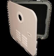 Girard Water Heater Access Door - White - Side Hinged - 2GWHDAS10