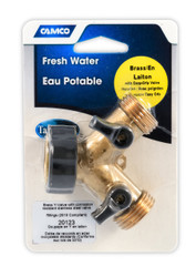 Camco Fresh Water Fill  Hose Shut Off Valve - Brass