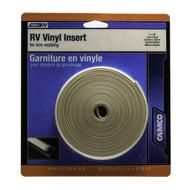 "Camco Vinyl Trim Molding Insert 1"" x 25' Colonial White"