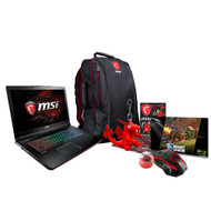 "MSI GE72 APACHE PRO-030 17.3"" Gaming Laptop (Kaby Lake) - Core i7-7700HQ, 16GB RAM, 256GB SSD + 1TB HDD, GTX 1050Ti, Win 10"