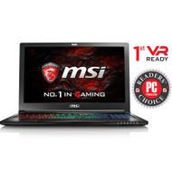 "MSI GS63VR STEALTH PRO-002 15.6"" MAX Q Gaming Laptop - Core i7-7700HQ Kabylake, 32GB RAM, 1TB HDD + 512 SSD, GTX1070 8G VRAM, VR Ready, Win 10 Pro"