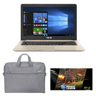 "ASUS VivoBook Pro N580VD-DB74T 15.6"" Professional Laptop - Intel Core i7-7700HQ, 2.8GHz, 16GB RAM, 512GB SSD, Windows 10, Fingerprint Sensor"
