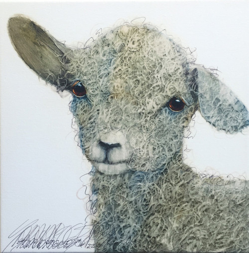 """""""Flop"""" by Sarah Rogers, Limited edition (22) giclée print on canvas, 12x12 inches"""