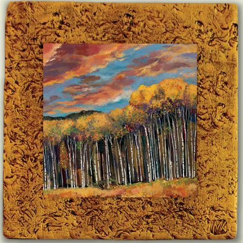 "Aspen Tile 01 by Kenarov Art, 10""x10"" ready to hang."