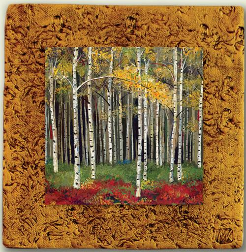 "Aspen Tile 03 by Kenarov Art, 10""x10"" ready to hang."