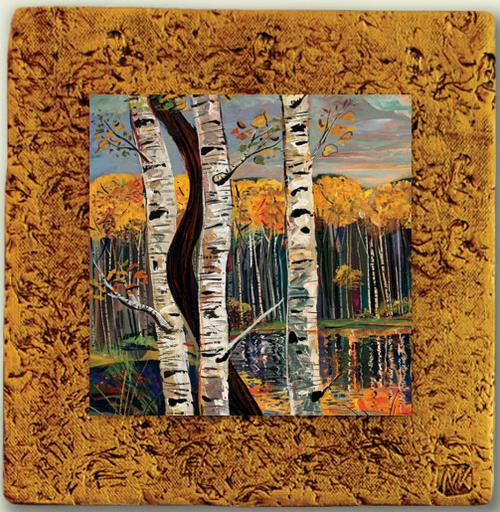 "Aspen Tile 04 by Kenarov Art, 10""x10"" ready to hang."