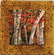"Aspen Tile 09 by Kenarov Art, 10""x10"" ready to hang."