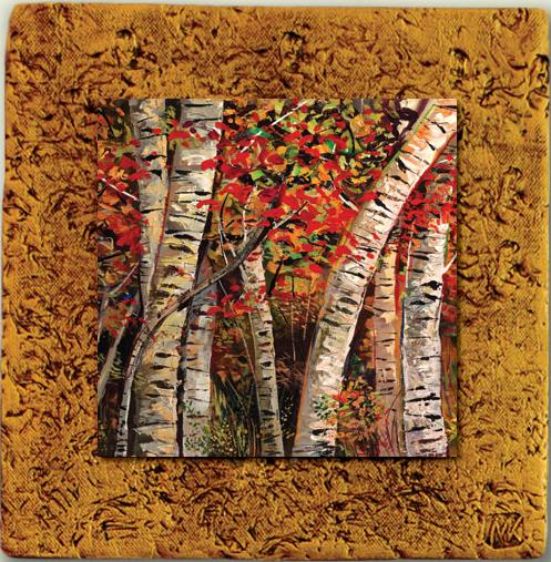 "Aspen Tile 09 by Kenarov Art, 10""x10"" ready to hang."