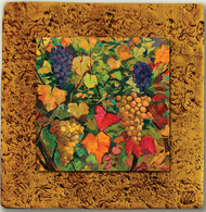 """Countryside Tile 01 by Kenarov Art, 10""""x10"""" ready to hang."""