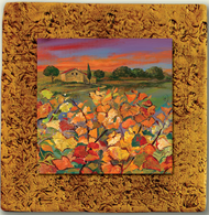 """Countryside Tile 02 by Kenarov Art, 10""""x10"""" ready to hang."""