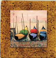 "Italy Tile 01 by Kenarov Art, 10""x10"" ready to hang."