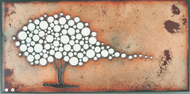 """Like That Tree"" by Jenn Bell 6x12 glass on copper"