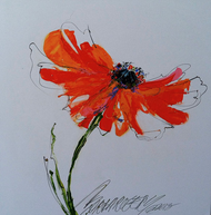 """""""Possibly a Poppy"""" by Sarah Rogers 10x10"""
