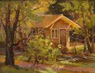 """River Cabin"" Margaret Jensen 8x10"