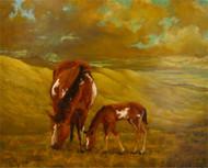 """""""Serenity: Mother and Child"""" Lyse Dzija 22x28"""